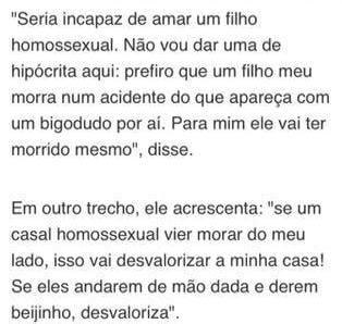Recorte de entrevista pública com o Deputado Jair Bolsonaro