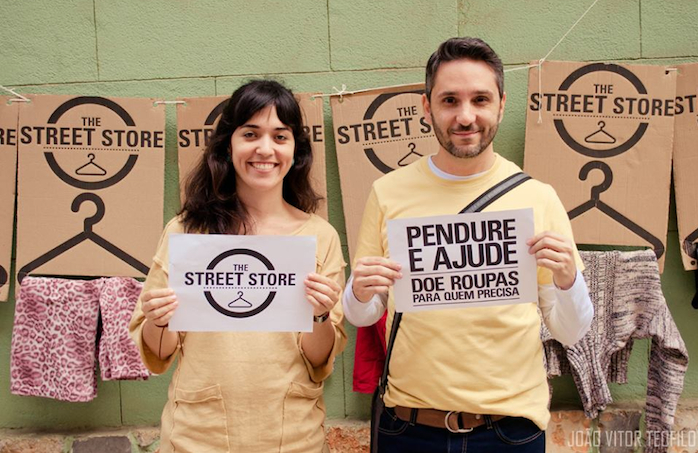 Os organizadores do projeto: Luciana Duarte e Léo Máximo (Foto: João Vítor Teófilo)