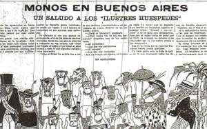 Publicação do jornal argentino dias antes do amistoso em 6 de outubro de 1920