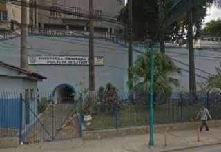 Hospital Central da Polícia Militar, no Rio, para onde a menina foi transferida (Reprodução/Google Street View)