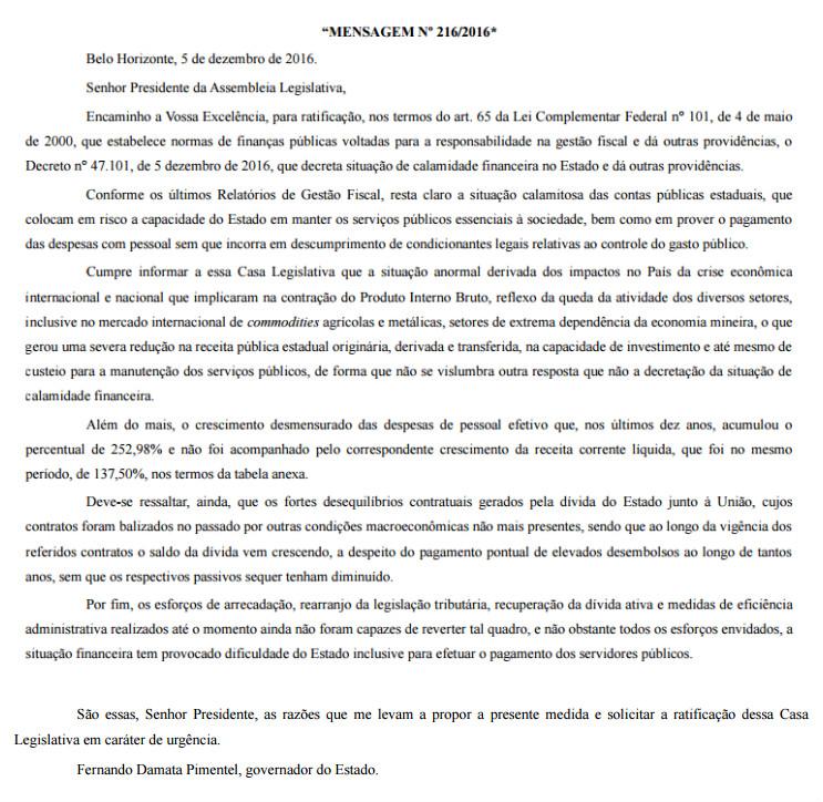 Diário do Legislativo desta terça-feira (6)
