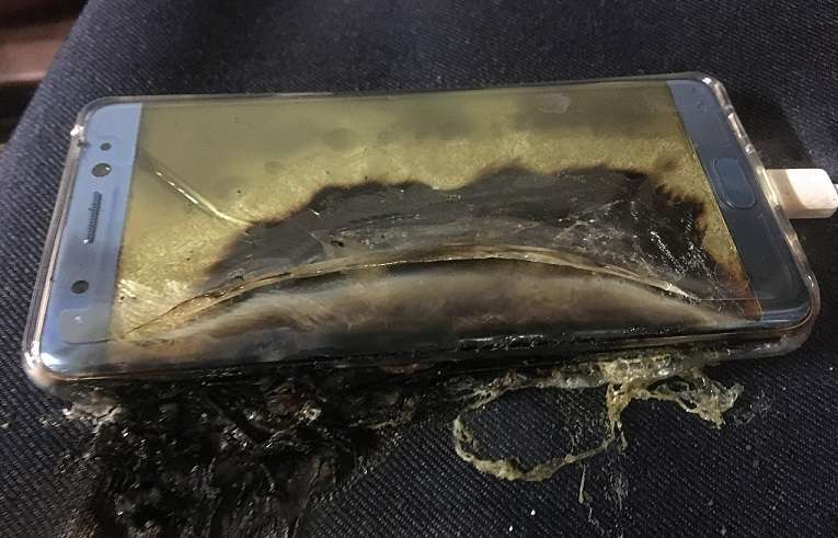 incêndios do Galaxy Note 7