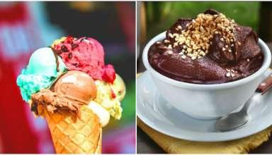 açaí e sorvete