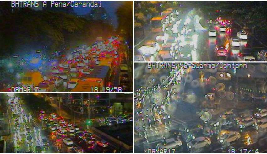 congestionamento chuva bh