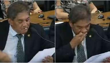 senador perde dente ao vivo