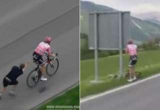 ciclista dor de barriga
