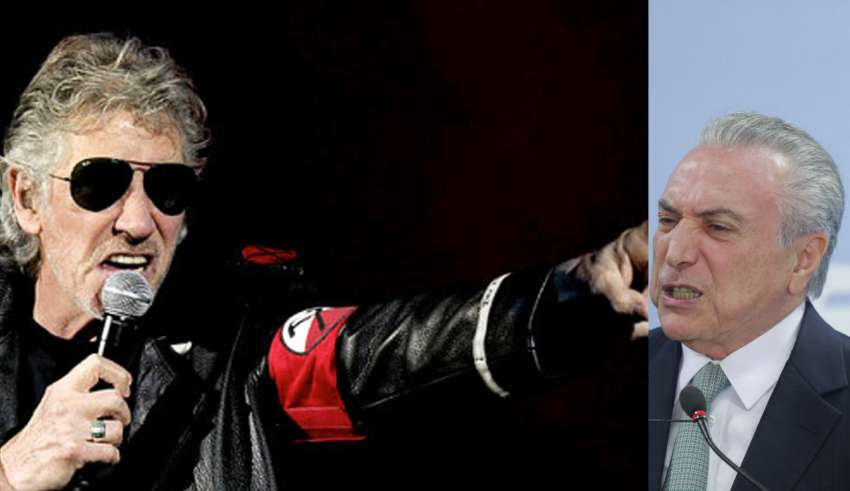 Roger Waters posta foto de Temer: 'É essa vida que vocês querem?'