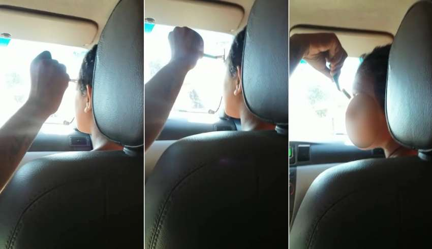 Mulher raspa sobrancelha e cabelo de suposta amante do marido; veja vídeo
