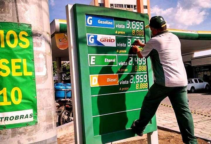 Image result for aumento  preço da gasolina