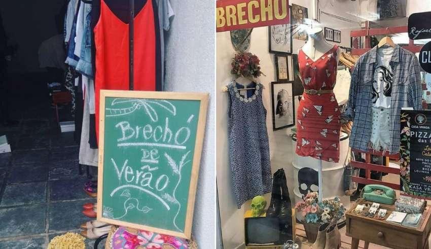d6401216551 Reprodução Facebook Brechó de Verão + Reprodução Facebook Madame Mê