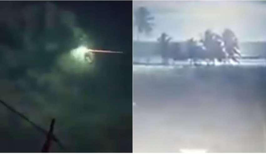 Meteoro na bahia tranforma noite em dia — Vídeo