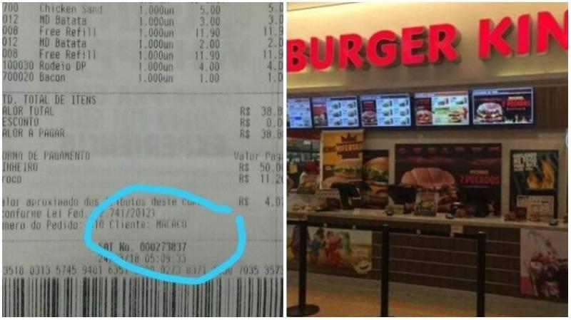 Burger King é acusado de racismo contra cliente; 'fui chamado de macaco'