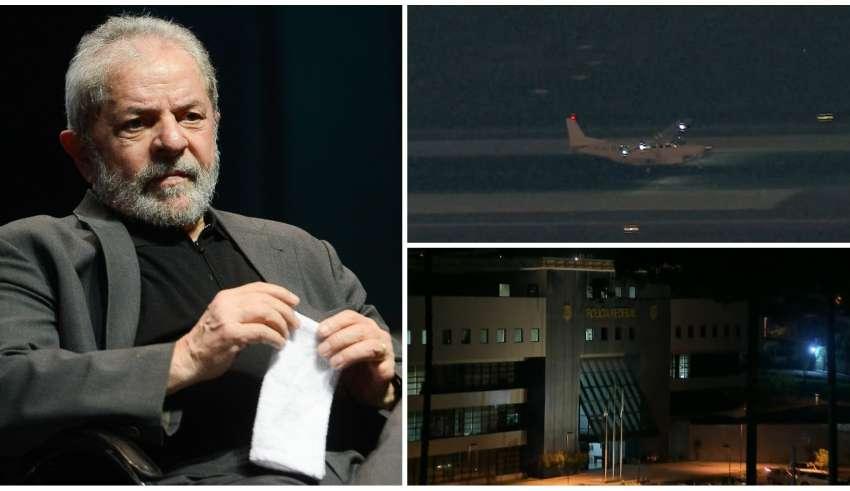 Resultado de imagem para Lula chega a Curitiba para cumprir pena por corrupção e lavagem de dinheiro