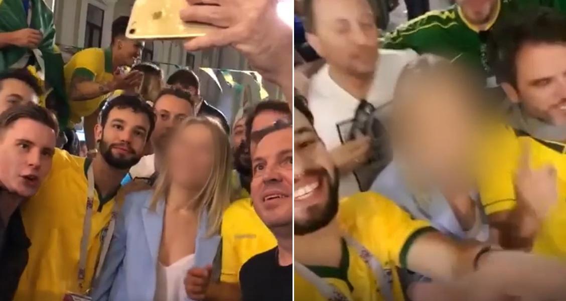 Torcedores brasileiros passam dos limites em vídeos constrangedores com  russa fe906f81ff443
