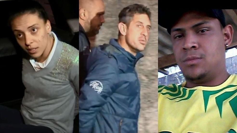 Mayara, Bruno e Júlio foram presos por participação na morte de Vitória