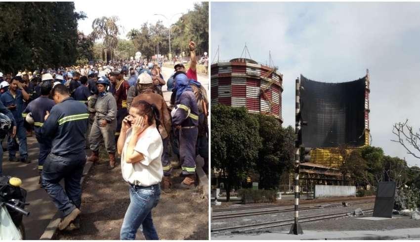 Resultado de imagem para Explosão é registrada em unidade da Usiminas em Ipatinga