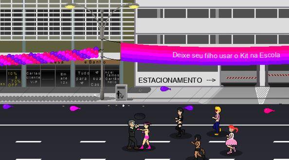 """Foto da matéria """"Jogo simula Bolsonaro agredindo mulheres, homossexuais e negros"""""""