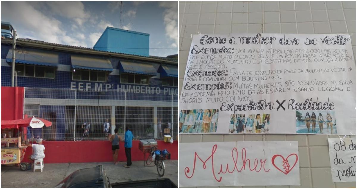 2252e9cdd 'No começo ela gosta': Cartazes em escola culpam a mulher por agressão e  assédio