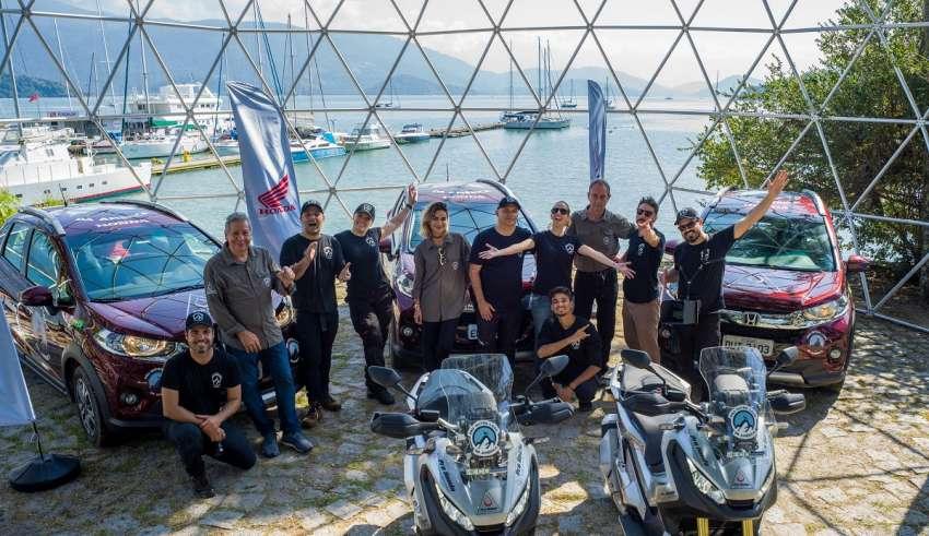 Pro Outro Lado Da América Expedição Avalia Robustez Da Honda