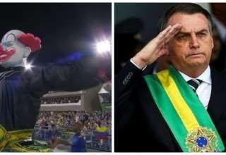 Escola de Samba desfila com palhaço presidencial