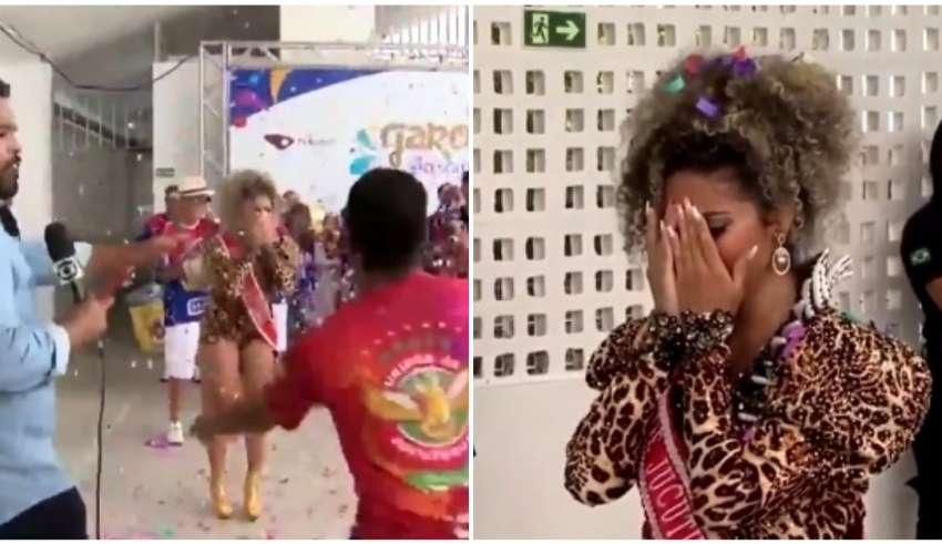Anúncio de vencedora garota do samba causa confusão