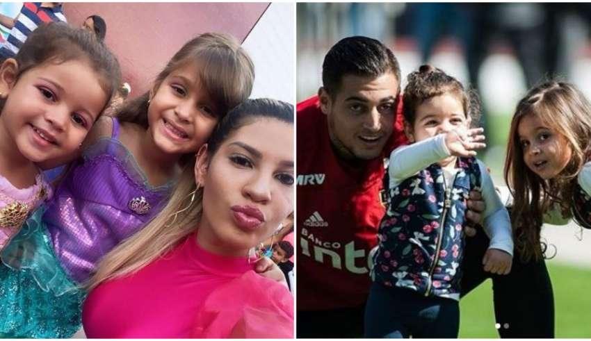 Milena e Jean com filhas