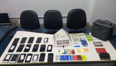 Ladrão rouba 19 celulares em bloco