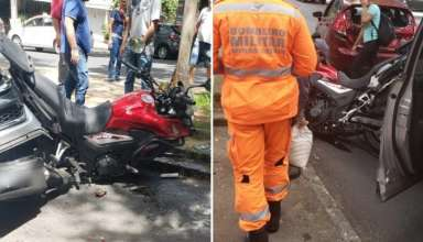 acidente carro moto lourdes