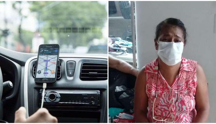 mulher corrida rejeitada máscara coronavírus