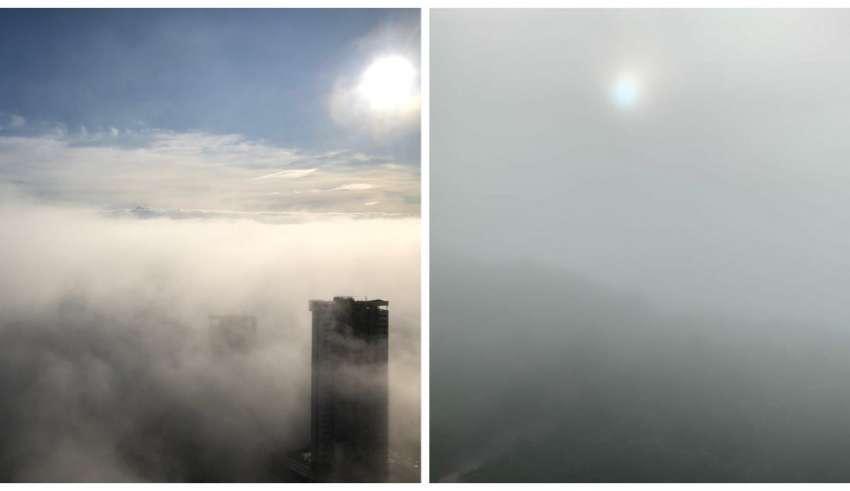neblina vista em bairros de bh e nova lima