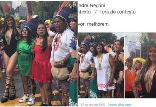 alessandra negrini indígena polêmica