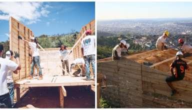 ONG constrói casas para vítimas da chuva