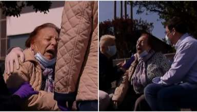 idosa chora covid-19