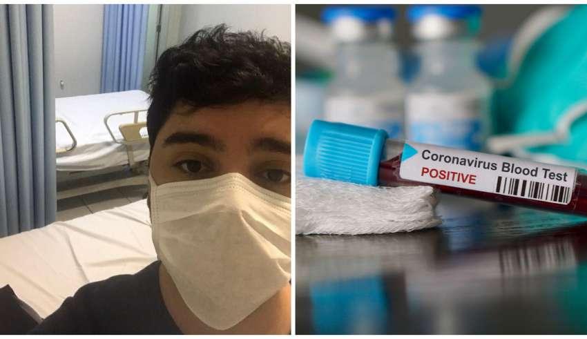 Jovem com coronavírus em BH