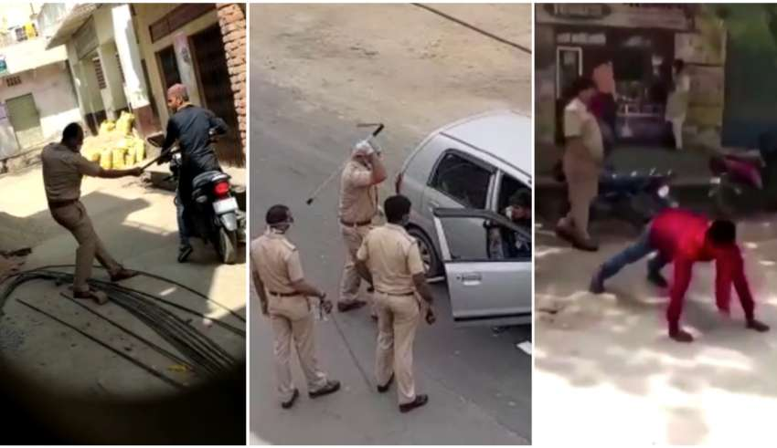 policiais agridem quem fura confinamento