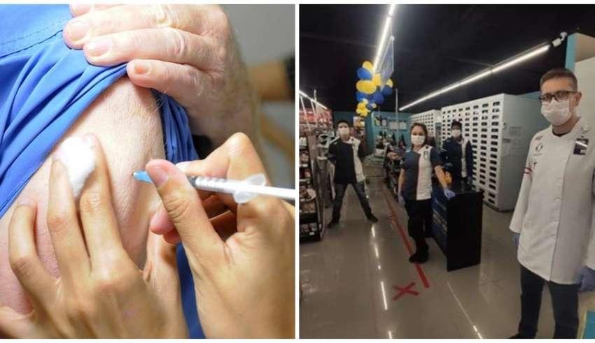 Vacinação contra gripe na Drogaria Araújo
