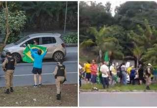 pm vista grossa aglomerações protestos