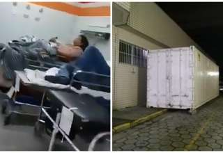 Contêiner foi alugado para colocar corpos das vítimas
