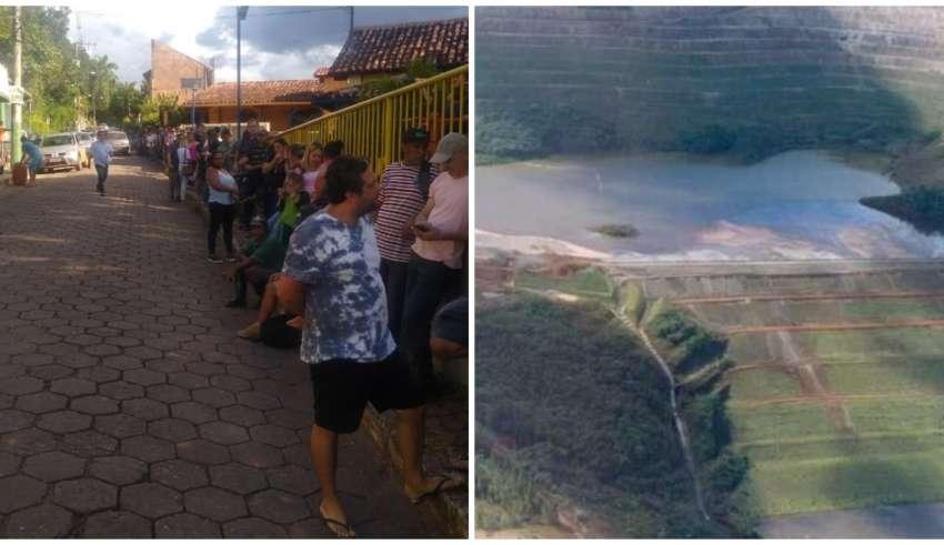 Moradores recebem benefício desde que barragem chegou ao risco iminente de rompimento