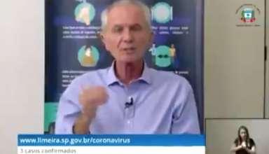 prefeito de limeira faz discurso sobre coronavírus