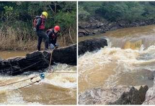 Homem pescava com a família quando caiu no rio