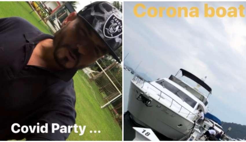 carlinhos festa barco covid