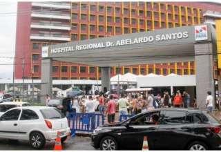 Idosa segue internada na unidade de saúde e está recuperando