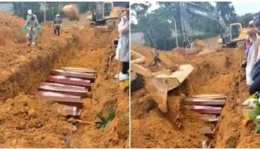 No Amazonas vítimas foram enterradas em valas coletivas