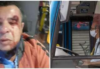 motorista agredido passageiro sem mascara
