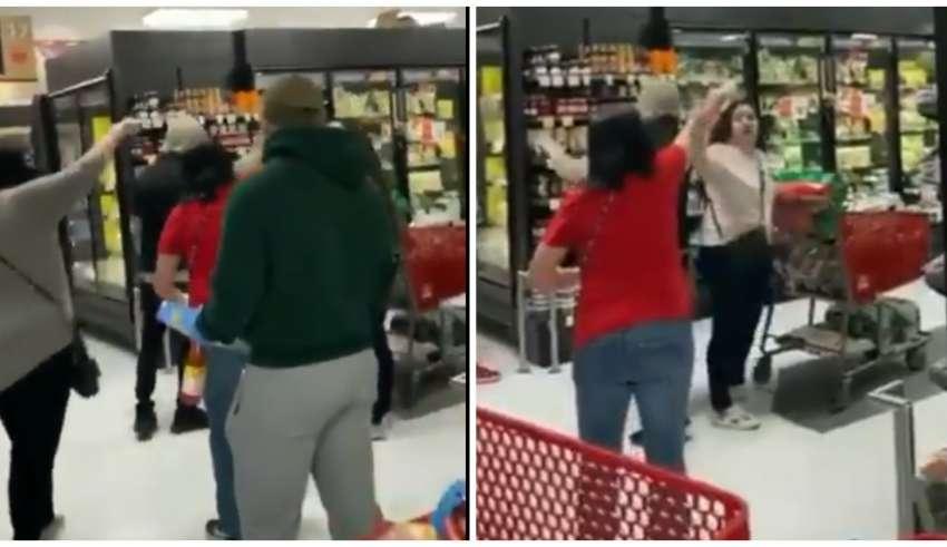 mulher sem mascara expulsa supermercado