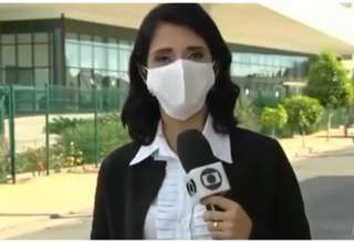 Jornalista teve falta de ar devido ao uso de máscara