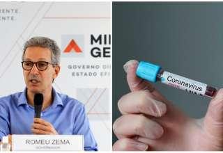 Zema testes coronavírus minas saúde
