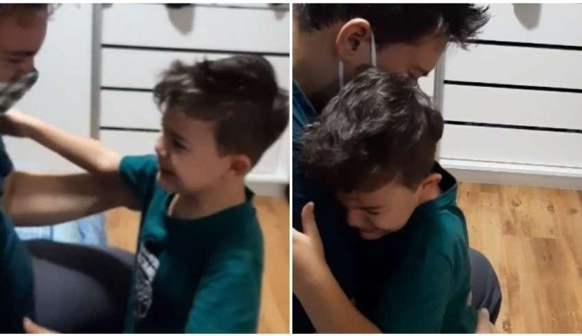 filho reencontra pai
