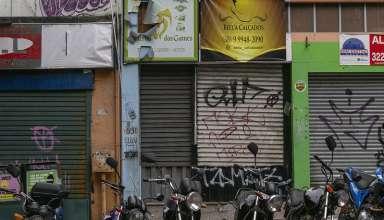 Lojas fechadas no centro de Bh